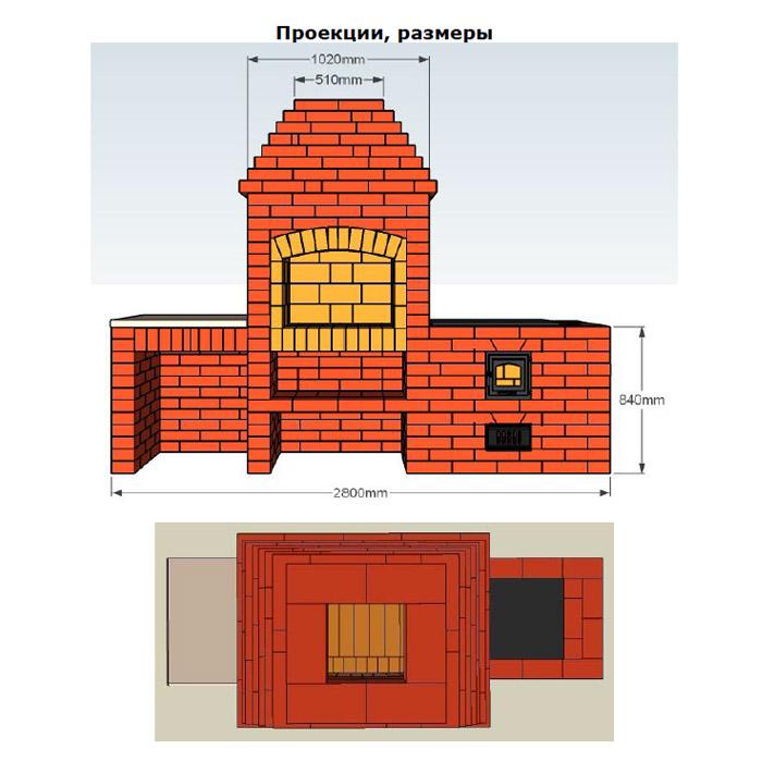 Проекты кирпичных барбекю комплексов купить в минске электрокамин panoramic 25led f/x quartz